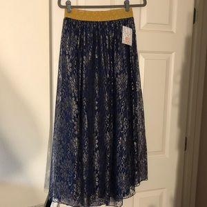 BNWT Lularoe Lucy sparkle lace skirt elegant XS